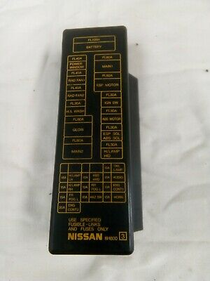 002 Nissan X Trail T30 Fuse Box With Fuses And Cover Lid Genuine Oem