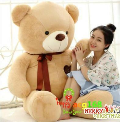 63'' Giant Brown Teddy Bear Plush Animal Pillow Bed Xmas 6KG Stuffed Doll Gifts