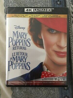 Mary Poppins Returns 4K ( No Slip Cover)