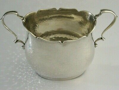 Stunning Arts And Crafts Sterling Silver Planished Sugar Bowl 1905 Antique