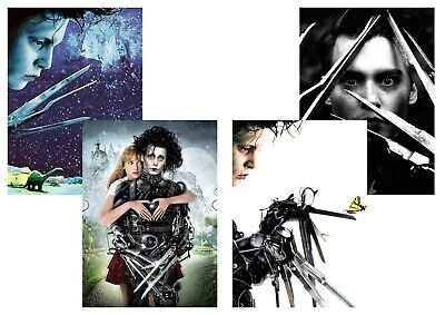 Edward Scissorhands: Johnny Depp,  A5 A4 A3 Textless Movie DVD Posters