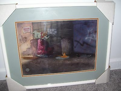 Walt Disney Oliver & Company Original Production Cel Framed Lot 235 New With COA