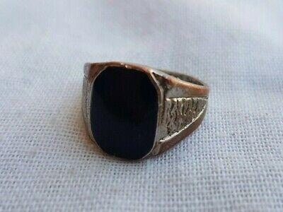 Vintage ancient viking bronze ring solid beautiful authentic rare type
