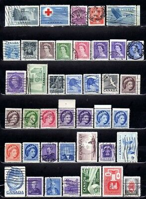 95+ CANADA STAMPS, 1952-61, Official, Postage Due, plate shifts, precancels SOTN