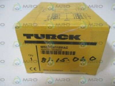 Turck Ms25-Ui-115Vac Rotational Speed Monitor Relay * New In Box *