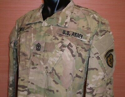 US Military Issue Multicam OCP Camouflage Army Combat Coat Jacket FR Large Long