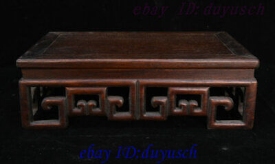 """14"""" Old Chinese Huanghuali Wood Hand Carving Statue tea table desk teapoy Statue"""