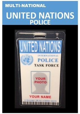 internat'l ID collection.Multi-National.Vertical Card<UNITED NATIONS>Task Force