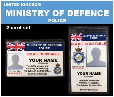 international ID collection..UNITED KINGDOM. 2 Card Set <<MINISTRY OF DEFENCE>>