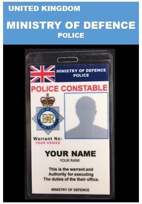 international ID collection..UNITED KINGDOM.Vertical Card<<MINISTRY OF DEFENCE>>