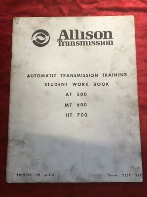 ALLISON TRANSMISSION MANUAL -ALL Series 1000-2000-3000-4000