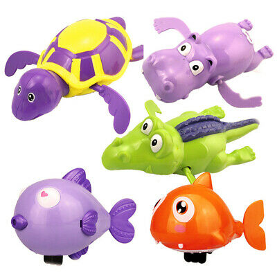 Cute Wind up Swimming Floating Turtle Animal Toy For Kids Baby Pool Bath Time