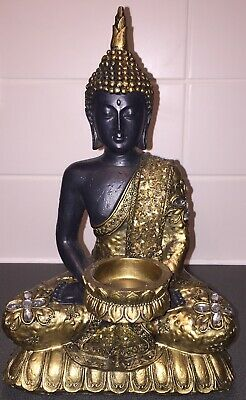 Buddha - Candle Holder - Gold  Height 10 Inches  Width 6 Inches  Depth 6 Inches