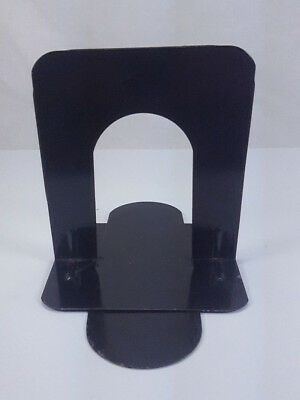 Pair Mid Century Industrial Office March Products Black Metal Bookends