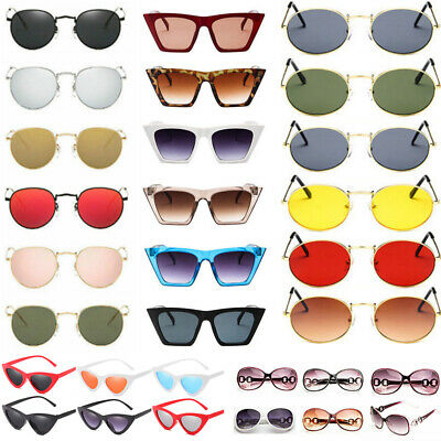 Womens Fashion Cat Eye Sunglasses Retro Vintage Shades Oversized Glasses UV400