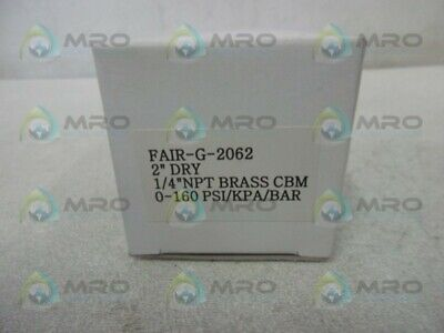 "Fairchild G-2062 Pressure Gauge 2"" * New In Box *"