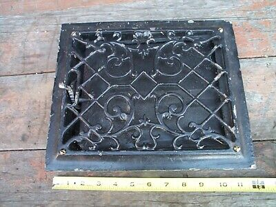 Victorian Antique Cast Iron Heat Floor Grate Register Vent Vintage Cast Iron