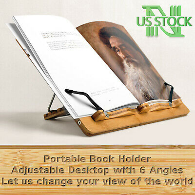 Book Stand NNEWVANTE Portable Adjustable Holder for iPad Mac Tablet Reading Rack