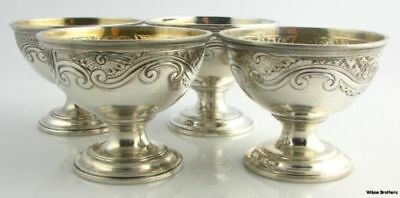 Four Authentic Tiffany & Co. Open Salt Dishes - Sterling Silver Vintage 284.5g