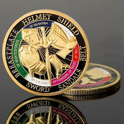HOT Put on the Whole Armor of God Commemorative Challenge Coin Collection CS