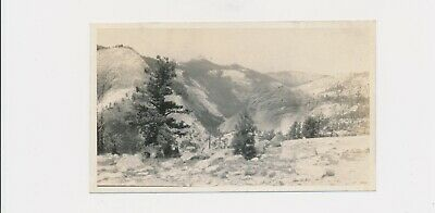 1926 #3, S.P. Briggs California Photographer Looking West Little Yosemite Canyon