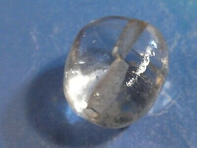Ancient Egyptian Crystal Scarab Sculpted Bead Ice Like 15.9 By 14.1 By 10.4 Mm