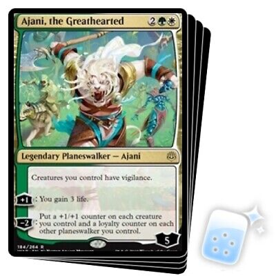 AJANI, THE GREATHEARTED X4 War Of The Spark WAR Planeswalker Magic MTG MINT CARD