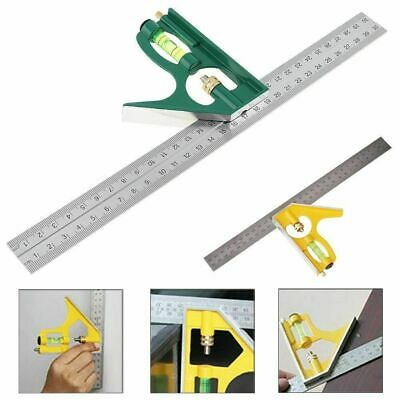 """300mm (12"""") Adjustable Engineers Combination Try Square Right Angle Ruler Set"""