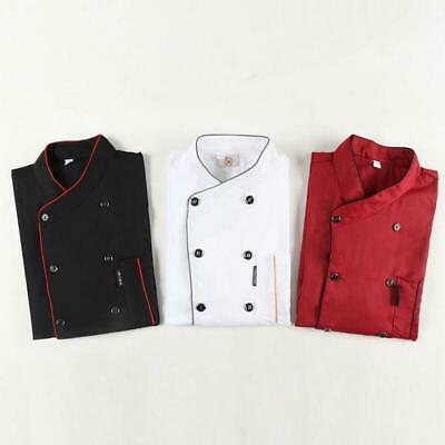 Chef Uniform Work Wear Cooking Waiter Restaurant Short Sleeve Shirt Jacket Tops