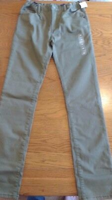 BNWT boys green chino style trousers. 16 years regular skinny with stretch  1/12