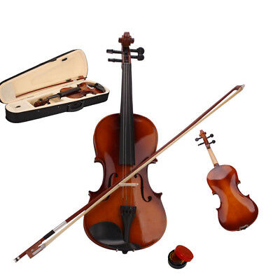 New 1/8 Size Student Basswood Acoustic Violin Fiddle with Case Bow Rosin