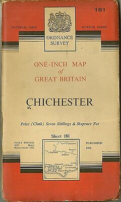 Ordnance Survey Map No.181 CHICHESTER  - 1960