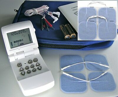 TENS Machine -  High Power,  Deluxe Kit with 8 Electrode Pads