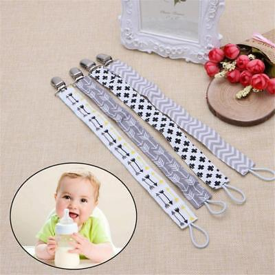 Baby Boy Girl Dummy Pacifier Soother Nipple Leash Strap Chain Clip Holder JD