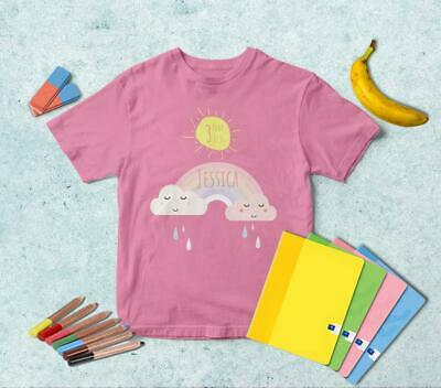 Pastel Rainbow PERSONALIZED T-shirt | Any Color | Boys Girls Kids TS078