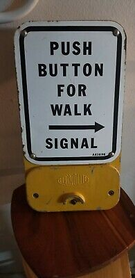 Pedestrian crossing sign push button traffic signal light (Great shape)