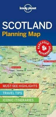 Lonely Planet Scotland Planning Map by Lonely Planet 9781788686051   Brand New