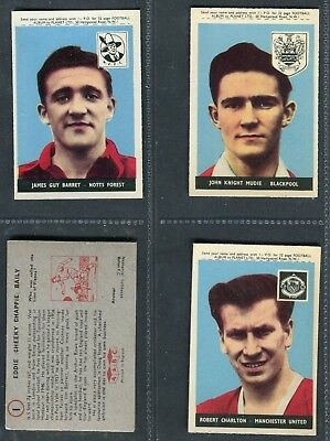 """A & Bc Gum 1958 """"Footballers"""" With Planet Trade Cards - Pick Your Card"""