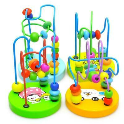 Game Toy Children Kids Baby Colorful Wooden Mini Around Beads Educational