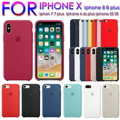 Original Silicone Case For Apple iPhone XS Max/XR/XS/6S/7/8 Plus Cover