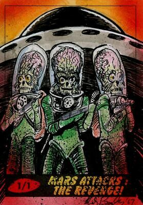 Mars Attacks The Revenge Sketch Card By Kiley Beecher
