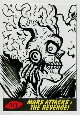 Mars Attacks The Revenge Sketch Card By Robert Jimenez