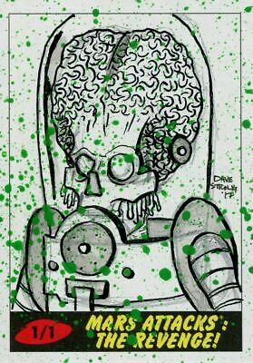 Mars Attacks The Revenge Sketch Card By Dave Strong