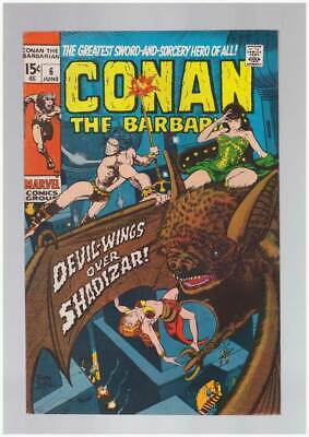 Conan the Barbarian # 6  Devil Wings over Shadizar !  grade 8.5 scarce book !