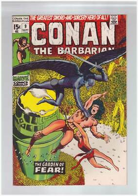 Conan the Barbarian # 9  The Garden of Fear !  grade 9.0 scarce book !