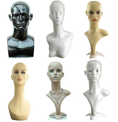 Amazing Mannequin Head Display Head Dummy Shop Window Male Female Black White UK