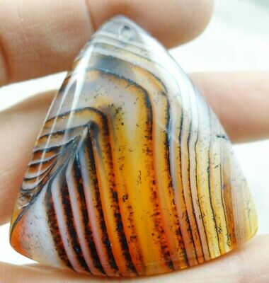 46*43MM Natural picture agate pendant Gemstone Making jewelry C138