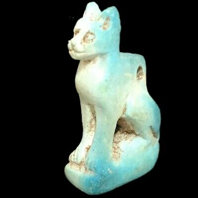 Beautiful Ancient Egyptian Cat Amulet 300 Bc (3)