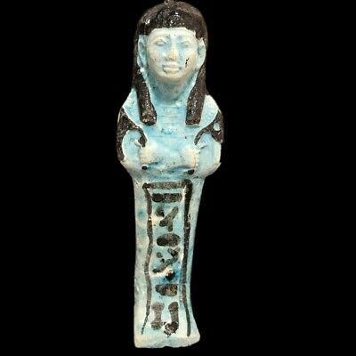 EGYPTIAN HIEROGLYPHIC SHABTI, LATE PERIOD 664 - 332 BC (1) LARGE OVER 12 cm TALL