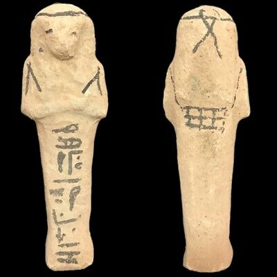 EGYPTIAN HIEROGLYPHIC SHABTI, LATE PERIOD 664 - 332 BC (4) LARGE OVER 11 cm TALL